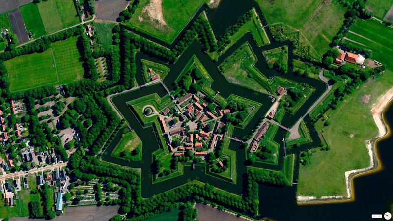 Ghé thăm pháo đài hình ngôi sao Bourtange ở Hà Lan