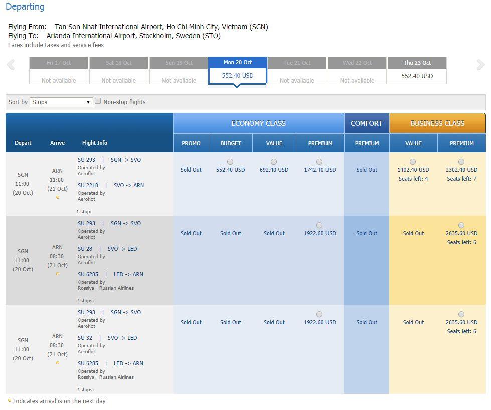 Vé máy bay Hồ Chí Minh đi Thụy Điển giá rẻ
