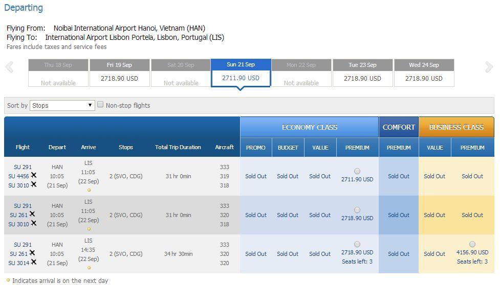 Vé máy bay đi Bồ Đào Nha bao nhiêu tiền