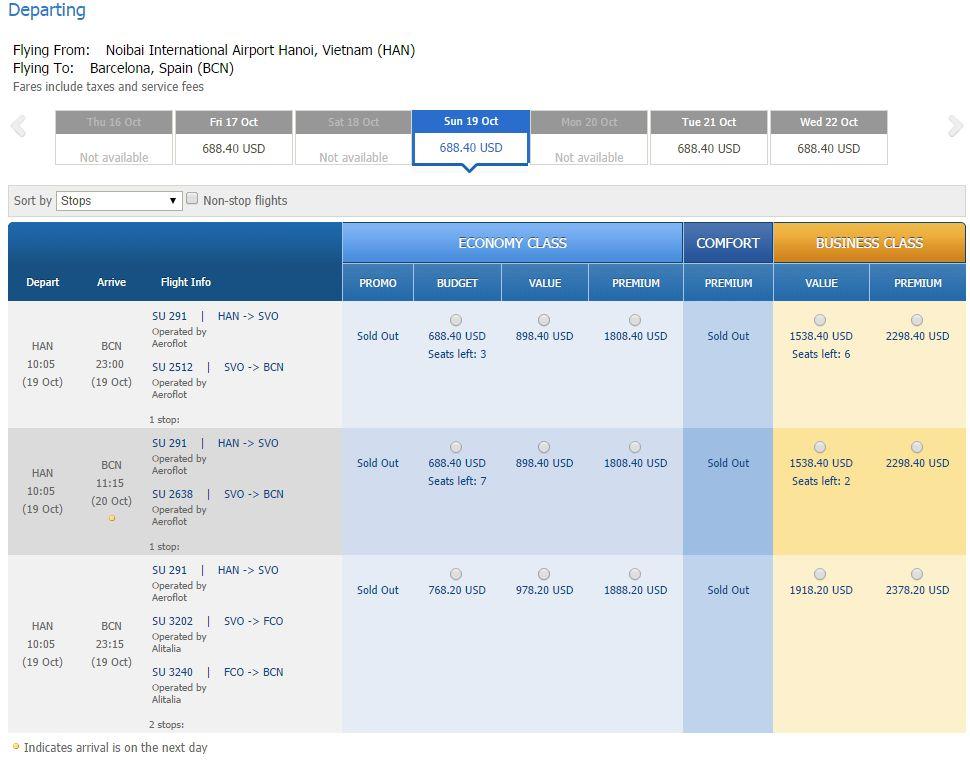 Vé máy bay đi Tây Ban Nha bao nhiêu tiền