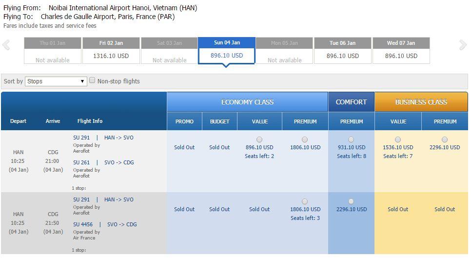 Vé máy bay đi Pháp bao nhiêu tiền