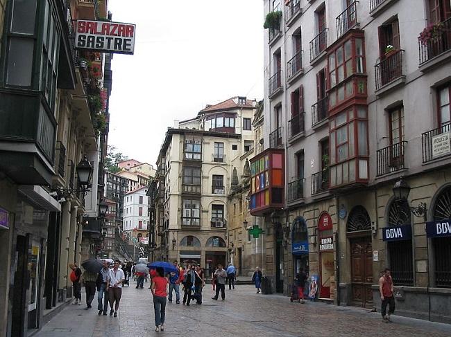 Một góc thành phố Bilbao