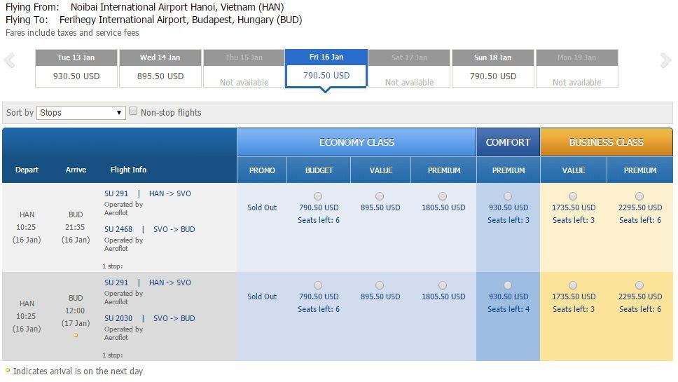 Giá vé máy bay đi Hungary