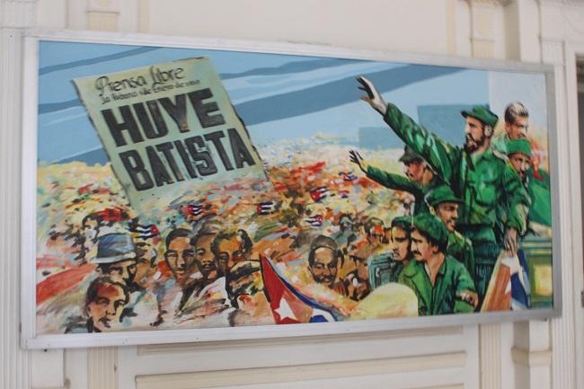 Bức tranh vui mừng trong chiến thắng ở Cuba
