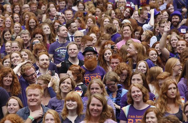 Ngày hội quốc tế tóc đỏ hấp dẫn ở Hà Lan