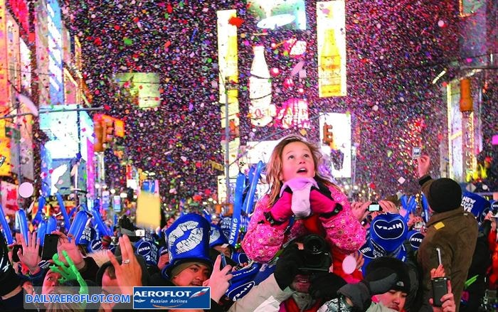 Đón năm mới ở Mỹ