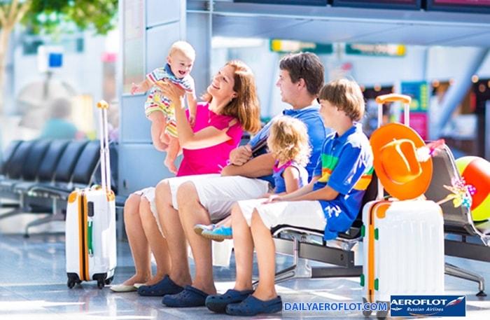 Hành lý ký gửi Aeroflot cho trẻ em