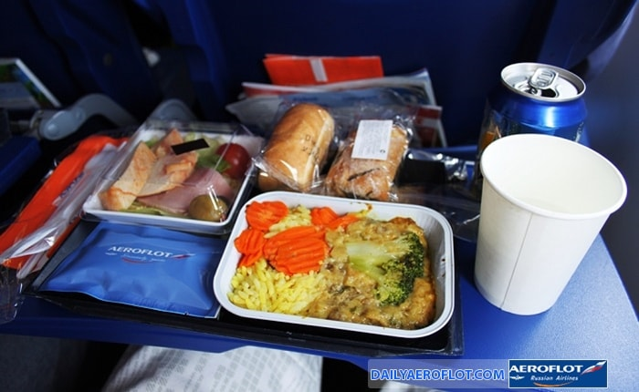 Suốt ăn trên chuyến bay Aeroflot